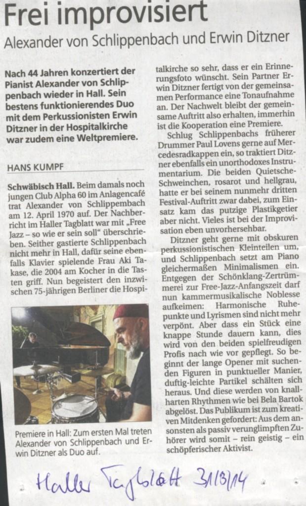 von Schlippenbach Ditzner
