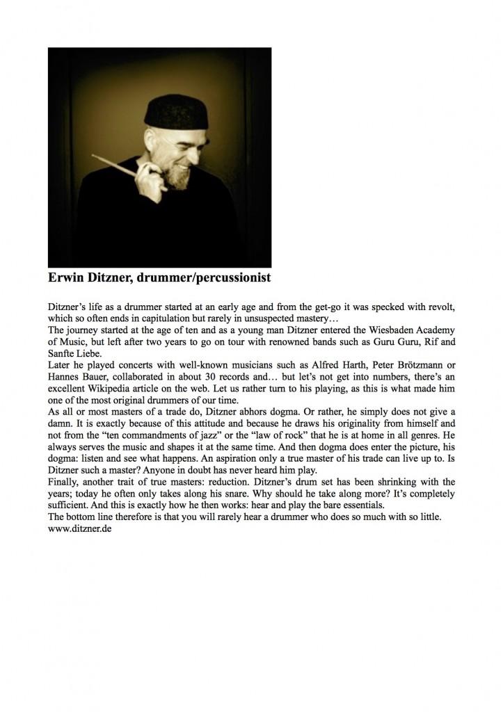 Erwin Ditzner Bio